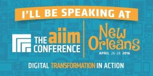AIIM16 Speaker Banner